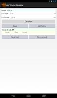Screenshot of Log Volume Calculator
