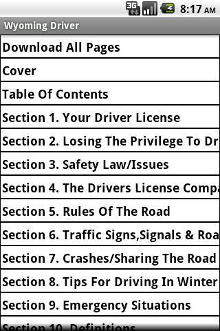 Wyoming Driver Handbook