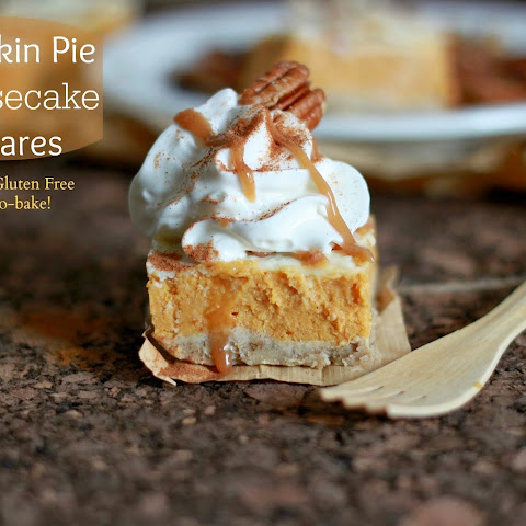 Healthy Pecan Pumpkin Cheesecake Squares