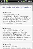 Screenshot of Jobs Search