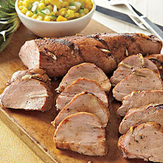 Grilled Pork Tenderloin with Green Tomato-Pineapple Salsa