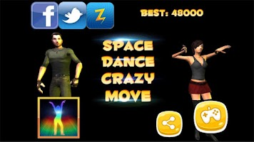 Screenshot of Space Dance Crazy Move