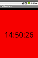 Screenshot of Toddler Clock