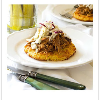Gluten Free Pulled Pork on Polenta Cakes