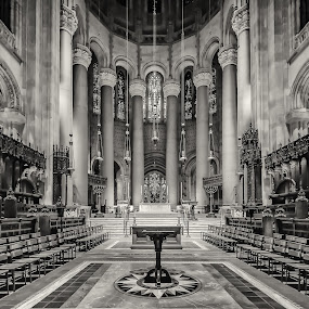 St. John the Divine by Linda Karlin - Black & White Buildings & Architecture ( b&w, architecture,  )