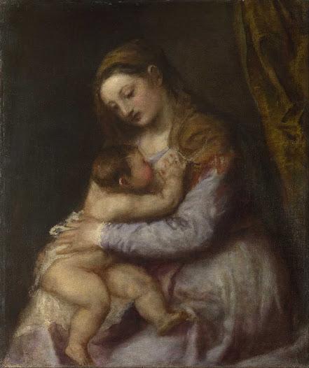 Tiziano, Madonn a che allatta