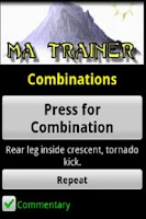 Screenshot of Martial Arts Trainer