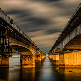 BRIDGES by Iambong Gee - Buildings & Architecture Bridges & Suspended Structures ( afternoon, long exposure, bridges, river )
