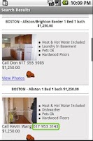 Screenshot of Search For Boston Apartments