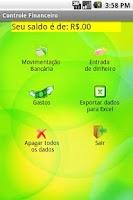 Screenshot of Controle Financeiro