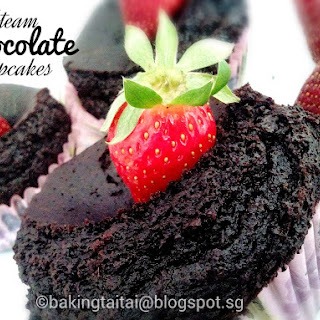 Steam Moist Chocolate Cupcake