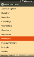Screenshot of Boston Food Trucks
