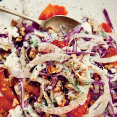 Red Cabbage and Fennel Salad with Tarragon and Lemon Yogurt
