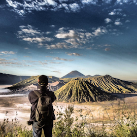 capturing the mighty mount  by Said Rizky - People Portraits of Men ( mountain, indonesia, cloud, candid, bromo )