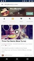 Screenshot of 8tracks playlist radio