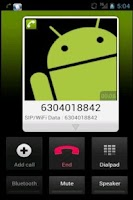 Screenshot of Eon Phone Pro.© - Mobile VoIP