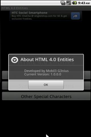 HTML 4.0 Entities