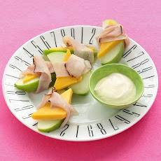 Ham-and-Apple Wraps with Dip