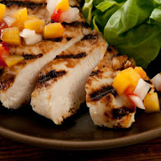 Buttermilk Chicken with Peach-Tomato Salsa Recipe