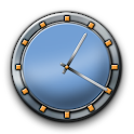 Metal Buttons:Blue Clock icon