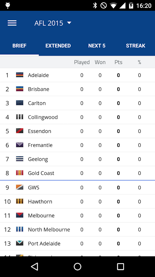 AFL Footy Live Screenshot 2