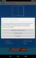Screenshot of Free Bible Trivia Game