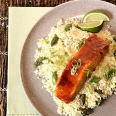 Hoisin-Lime Salmon with Asparagus Couscous