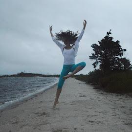 Beach Dancer by Sarah Graff - Sports & Fitness Other Sports ( beach summer dancer sunset girl arms )