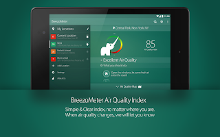 Screenshot of BreezoMeter Air Quality Index