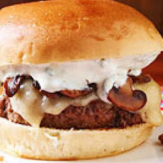 Worcestershire Burgers with Swiss, Mushrooms & Ranch Dressing