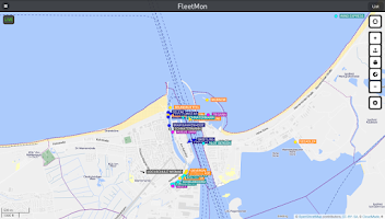 Screenshot of FleetMon mobile - live ships