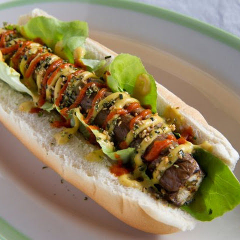 Vegan Japanese Eggplant Dog