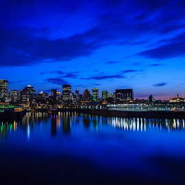 Blue Montreal by Jacques-André Dupont - City,  Street & Park  Skylines
