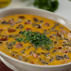 Smoked Sausage, Butternut Squash and Wild Rice Soup