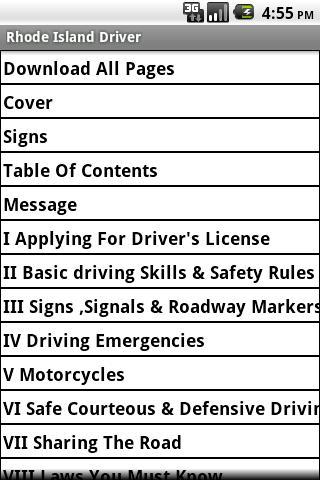 Rhode Island Driver Handbook