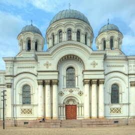 Kaunas St. Michael the Archangel's Church by Nerijus Liulys - Buildings & Architecture Places of Worship ( building, hdr, church, kaunas, lithuania )
