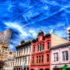 Plenty to choose from by Marc Mulkey - City,  Street & Park  Markets & Shops ( austin, sky, hdr, shops, texas, 6th, street )
