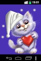 Screenshot of Funny Cute Cat Live Wallpaper