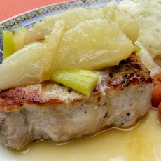 Pork Chops With Ginger Pear Sauce