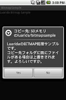 Screenshot of Luarida Bitmap Sample