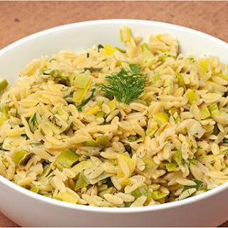 Orzo with Creamy Leeks and Dill