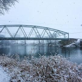 Silver Bridge by Isaac Golding - Instagram & Mobile iPhone ( pine creek, iron bridge, pennsylvania )