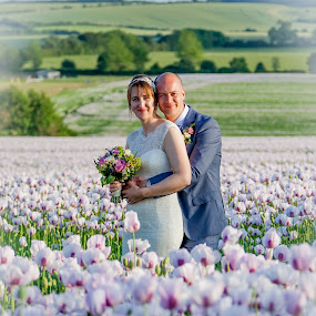 poppy love by Sheena True - Wedding Bride & Groom