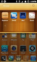 Screenshot of iWood Shelf Theme (FREE!)