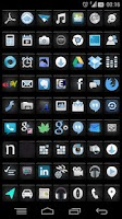 Screenshot of Night Icon pack (Nova/Apex/Go)