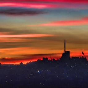 Very special sunrise by Cristobal Garciaferro Rubio - City,  Street & Park  Vistas