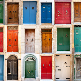 Doors of Malta by Chris Muscat - Buildings & Architecture Homes ( doors, rabat, doorway, colourful, doorways, malta, vintage, valletta, classic, entrance, abandoned )