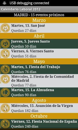 Calendario Laboral España 2014