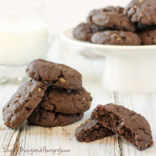 Double Chocolate Crunch Cookies