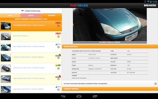 Screenshot of PartShark Car Parts & Spares